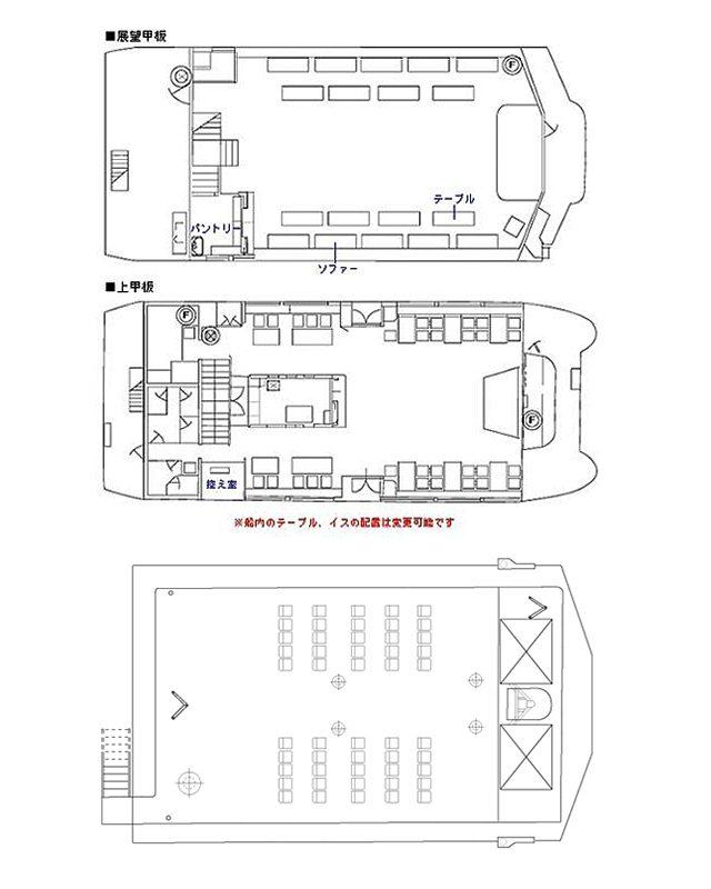 セレブリティ2号の船内図