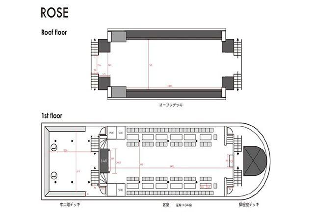 ローズの船内図